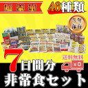 【超豪華】7日間分 非常食セット [46種類73アイテム] おかず お菓子 間食/夜食 おにぎり 野...