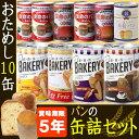 非常食セット「缶入り5年保存パン 10種類x10缶セット」美...
