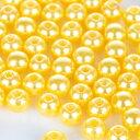 カラーパールビーズ レモン 8mm