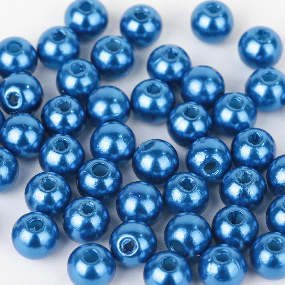 カラーパールビーズ ブルー 8mm