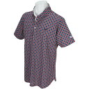 マスターバニーエディション MASTER BUNNY EDITION プレミアムTEX タイル柄 半袖ポロシャツ ゴルフ ウェア メンズウェア シャツ ポロシャツ