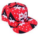 【NEW! POP & STRAWBERRY】PERLYGATES パーリーゲイツストロベリーフラットブリムキャップ イチゴ柄7187406/17B