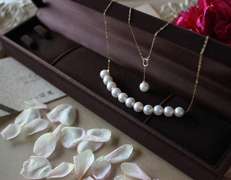 真珠 akoya【真珠 ネックレス】あこや真珠 パール K18 ネックレス ベビーパール …...:pearlyuumi:10000428