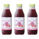 順造選 クランベリー100(果汁100%ストレートクランベリージュース)【500ml×3本入】