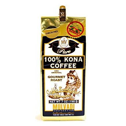 MULVADI 100% KONA COFFEE マルバディ コナ コーヒー ハワイ (粉) 198g