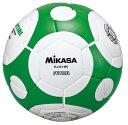 品番:FLL333-WG 限定特価【ミカサ】フットサルボール4号 フットサル検定球(白×緑)