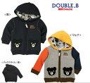 DOUBLE.B/ミキハウスダブル.B編みベアつきパーカー【90cm】