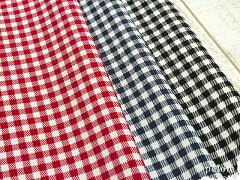 家庭用ミシンでも縫いやすいチェックプリントの11号ハンプが15%OFF!!