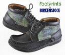 BIRKENSTOCK ビルケンシュトック / FOOTPRINTS フットプリンツ / OSAKA オオサカ / ブラック×チェック / EUR39 JPN25.0cm【中古】