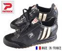 ヴィンテージ フランス製 / PATRICK パトリック / LIVERPOOL リバプール / ブラック×ホワイト レザー / EUR35 JPN22.0cm相当【中古】♪○♪
