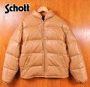 USA製 / Schott ショット / レザー ダウンジャケット 【Lot:2140】/ ブラウンベージュ / 42 メンズL相当【中古】▽【05P06Aug16】