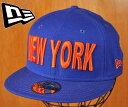 ショッピングORANGE newera ニューエラ / New York City ニューヨーク シティ / フィッティドキャップ ベースボールキャップ / ブルー×オレンジ / サイズ7-1/2 59.6cm【中古】▽