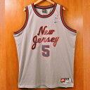 【ビッグサイズ】NIKE ナイキ NBA New Jersey Nets ニュージャージー・ネッツ ジェイソン・キッド バスケ タンクトップ ユニフォーム ナンバリング グレー メンズ2XL【中古】▼