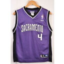 Reebok リーボック NBA Sacramento Kings サクラメント・キングス クリス・ウェバー バスケ タンクトップ ユニフォーム ナンバリング ..