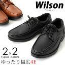 Wilson/ウィルソン モカシン カジュアルシューズ/スリッポン/サイドファスナーレースアップ EEEE