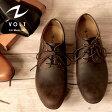 【送料無料】【本革】VOLT/ヴォルト Soft Cow Leather Side Zip Oxford/ソフトカウレザー サイドジップ オックスフォード【VOLT600 カジュアルシューズ プレーントゥシューズ プレーントゥ レースアップ メンズ 靴 短靴】
