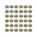 パリオシール 王冠シール(ホログラムシール) 小 オキナ PS767 【メール便OK】