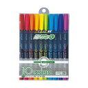 トンボ鉛筆  蛍光ペン 【蛍コート80 】 10色セット 641684 トンボ鉛筆 WA-SC10C