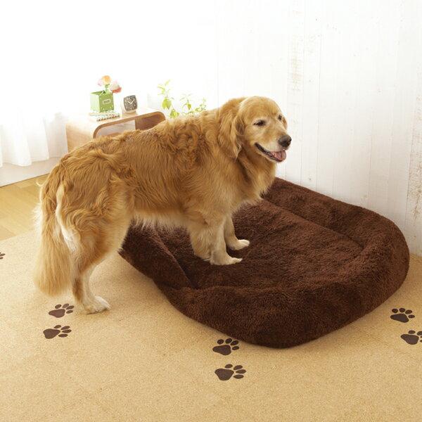 抗菌防臭ふんわりスクエアベッド L(幅130×奥行95×高さ22cm)【ベッド マット クッション 冬 抗菌 防臭 防ダニ 小型犬 中型犬 大型犬 犬 犬用 犬用品 猫 猫用 猫用品 ペットグッズ】 体重のある子でも長時間ラクに眠れる♪底付きしない固綿マットを使用した抗菌・防臭・防ダニのベッド。