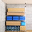 つっぱりラック 突っ張りラック 壁面収納 メタルラック ランキング常連 スチールラック ラック 幅180 送料無料 ルミナス スチール製 メタルシェルフ スチールシェルフ