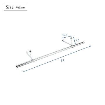 メタルラックランキング常連★ルミナスラックスチールラックスチールシェルフメタルシェルフ★ルミナス25mm/89cmハンガーポール[フック付](耐荷重250kgのスチール棚用)IL-090HP02P12Oct14