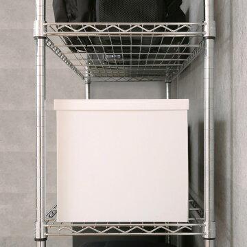 幅1505段つっぱりラック突っ張りラック壁面収納メタルラックランキング常連スチールラック耐震ラックルミナスメタルシェルフルミナススリム奥行45MH1518-5T