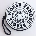 ショッピングエース ピーナッツ スヌーピー 丸型ポーチ フライング・エース 刺繍 スヌーピー グッズ (MCOR)