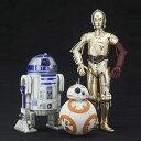 店内全商品対象 限定クーポン 配布中 2018/9/21 20:00~9/26 1:59まで スター ウォーズ R2-D2 C3PO with BB-8 フィギュア 3体セット ARTFX STAR WARS
