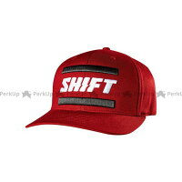 【エントリーでポイント10倍】 SHIFT シフト ヘッドギア ブラックレーベル フレックスフィットハット(ダークレッド) L/XL