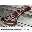 アメリカンドリームス イントルーダークラシック400 シート関連パーツ コブラシート ファイヤーパターン(白蛇柄) コゲ茶レザー ベルト付