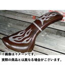 アメリカンドリームス イントルーダークラシック400 シート関連パーツ コブラシート ファイヤーパターン(白蛇柄) コゲ茶レザー ベルト無