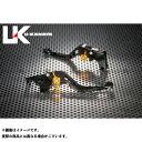 U-KANAYA SV650 SV650S レバー GPタイプ アルミ削り出しビレットショートレバー(レバーカラー:ブラック) オレンジ