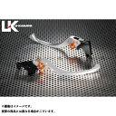 U-KANAYA EX-4 レバー ツーリングタイプ アルミ削り出しビレットレバー(レバーカラー:シルバー) 調整アジャスター:オレンジ