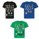 (マインクラフト) Minecraft オフィシャル商品 子供用 半袖 キャラクター Tシャツ 男の子 【楽天海外直送】