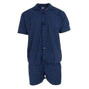 (ハービー・ジェームズ) Harvey James メンズ ウーブン 半袖 シャツパジャマ 上下セット 【楽天海外直送】