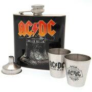 (エーシー・ディーシー) AC/DC オフィシャル商品 ヒップフラスコ スキットル セット 【楽天海外直送】
