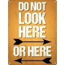 (グラインドストア) Grindstore オフィシャル商品 Do Not Look Here ミニ ブリキ看板 壁掛け 【楽天海外直送】
