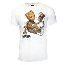 (ガーディアンズ・オブ・ギャラクシー: リミックス) Guardians Of The Galaxy Vol. 2 オフィシャル商品 ユニセックス グルートとテープ キャラクター 半袖 Tシャツ 【楽天海外直送】