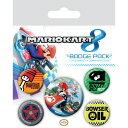 ショッピングマリオカート (マリオカート) Mario Kart オフィシャル商品 バッジセット 缶バッジ (5個セット) 【海外通販】