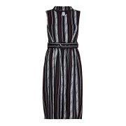 (メラ・ロンドン) Mela London レディース ストライプ ミディアム ロング チョーカー ドレス ワンピース 【楽天海外直送】