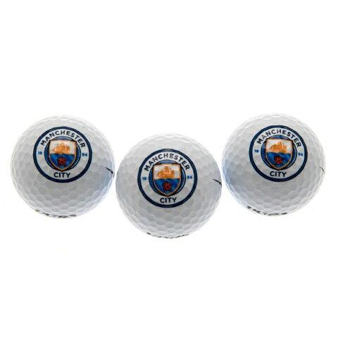 マンチェスター・シティ フットボールクラブ Manchester City FC オフィシャル商品 ラウンド用品 ゴルフボール 3個セット 【楽天海外直送】