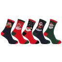 メンズ クリスマス ノベルティー ソックスセット 靴下セット (3足組) 男性用 【楽天海外直送】