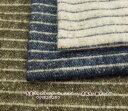 【起毛 生地】 先染ジャズネップ シャンブレー 表起毛・細ボーダー【ボ−ダ−】