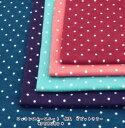 【ニット生地】国産 コットンスムースニット 水玉 ビビットカラー(2230)【水玉プリント 入園 生地 ニット knitfabrics KNIT生地】
