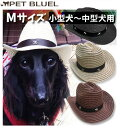 リアル | 犬用 カウボーイハット Mサイズ 大きめ小型犬〜中型犬用麦わら帽子【コンビニ受取対応商品】