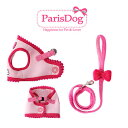 【犬 ハーネス リード 胴輪 犬用 ドッグ リードセット】リボンソフトハーネス&リードセット【ParisDog】