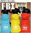 【犬 レインコート 小型 中型 服 犬用】犬用レインコート/FBI捜査官風レインコート・上下セット(収納ポーチ付)(2〜9号)【LovableDog】
