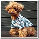 【犬 服】【ペット ウェア】【dog】犬用Tシャツ チェック柄・ストラップ柄