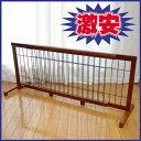 【ペット用品】木製 伸縮ペットゲート OA-G105 107から196cm