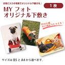 MY フォト オリジナル下敷き <1枚> お気に入りの写真を入れてオリジナル下敷きを作ろう犬・猫・ペット・オリジナル・下敷き